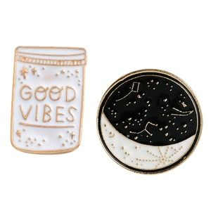 Jewelry - Moony vibes enamel pin set!